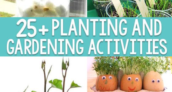 25+ Planting and Gardening Activities For Preschoolers