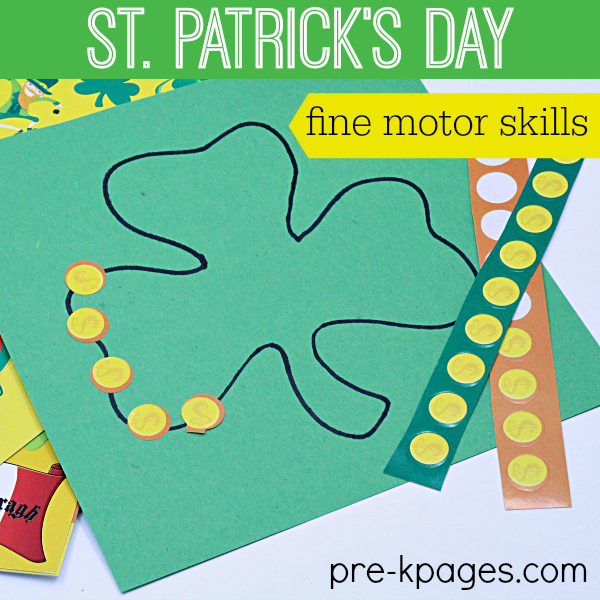 St Patricks Day Fine Motor Activities for Preschoolers