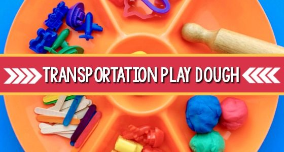 Transportation Play Dough Activity Tray