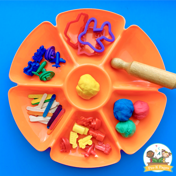 Transportation Play Dough Tray