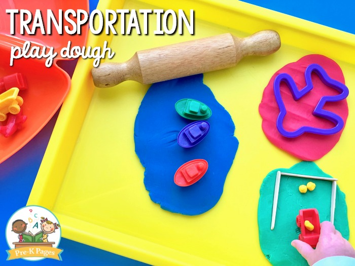 Transportation Theme Play Dough Activity