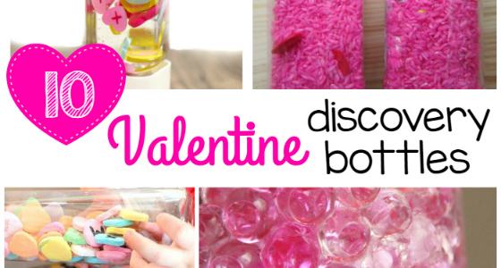 Valentine Discovery Bottles for Kids