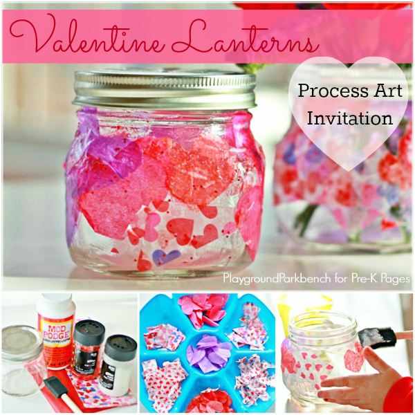 Valentine Lantern for preschool