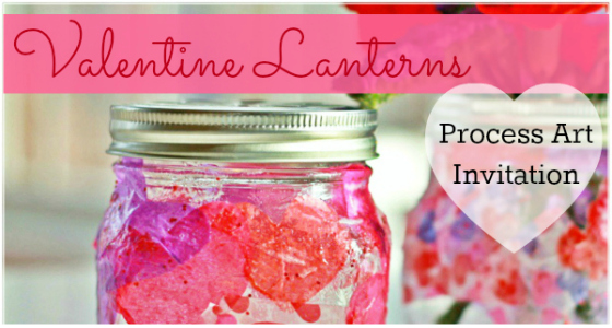 Valentine Lanterns Art Invitation