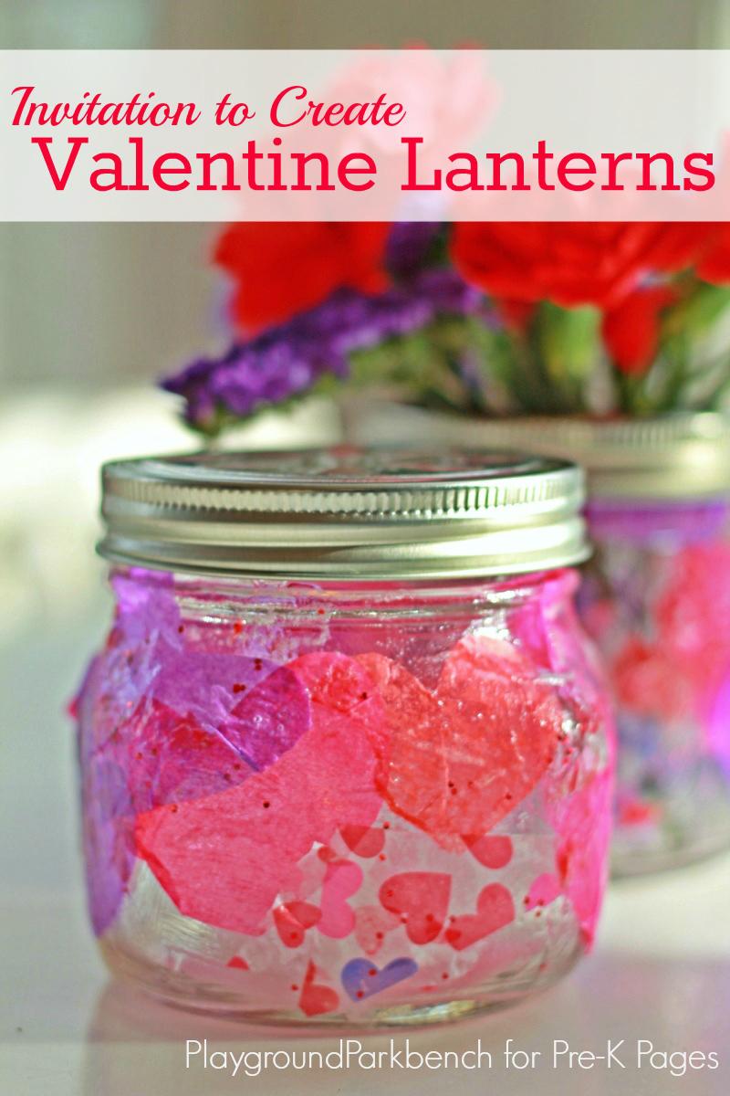 Valentine Lanterns art for preschool