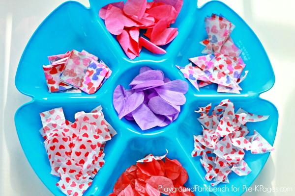 Valentine Lanterns Tissue Tray
