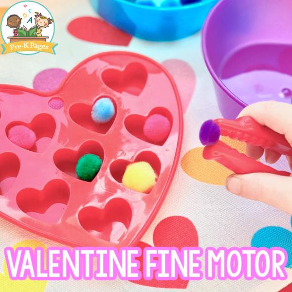 Valentine Pom-Pom Activity
