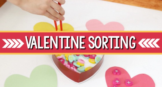 Valentine Color Sorting Activity