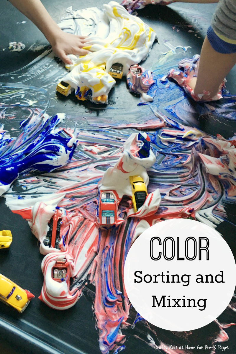 color sorting and mixing for preschool