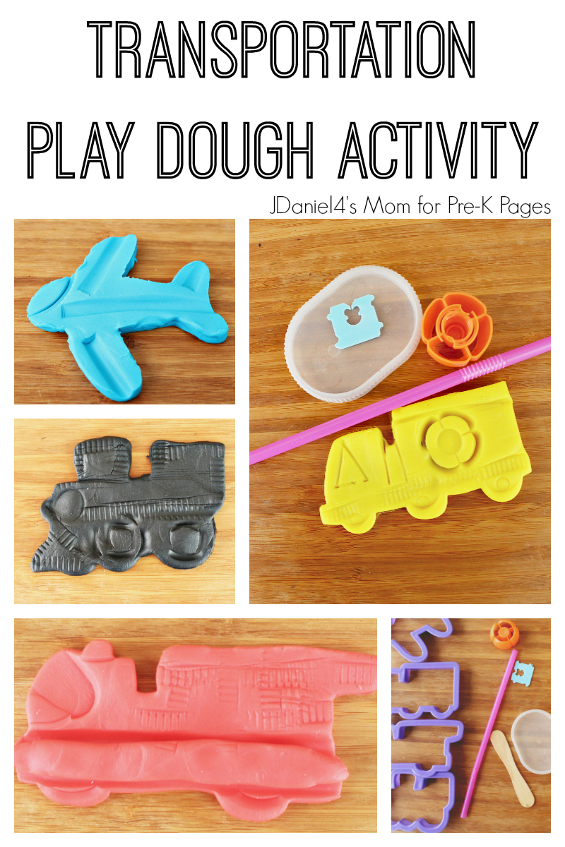 transportation play dough activity for preschool