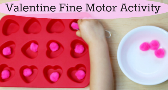 Valentine's Day Fine Motor Activity For Preschool