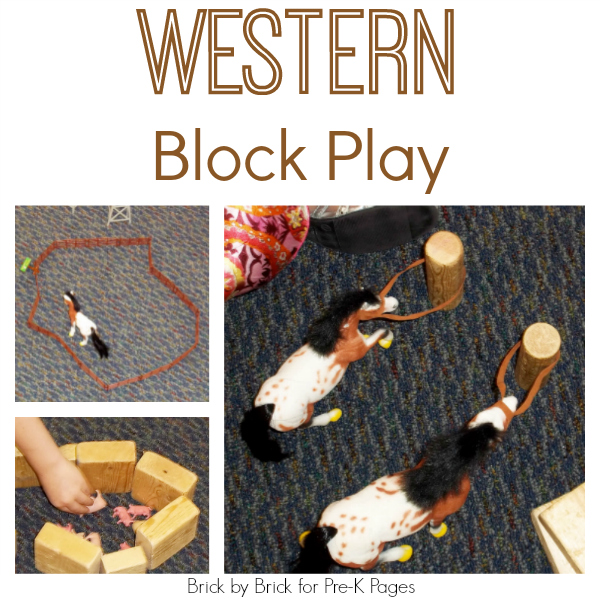 western cowboy block play