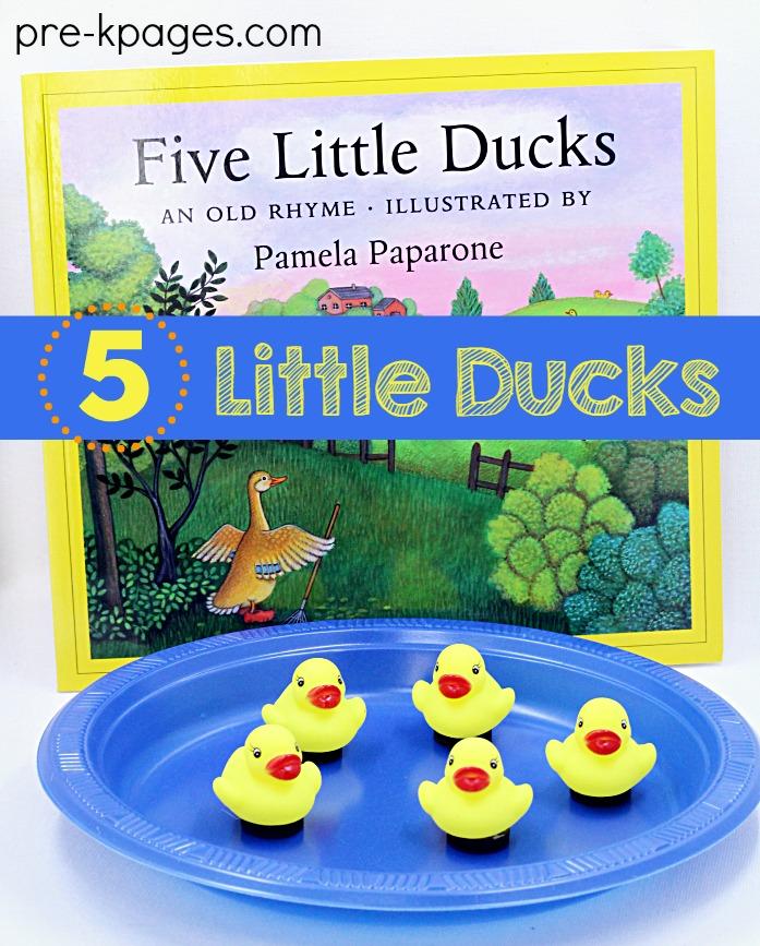 5 Little Ducks Activity for Preschool