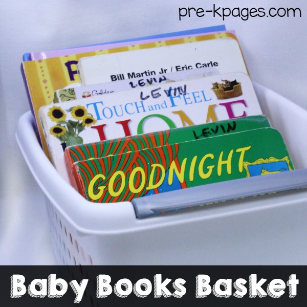 Baby Books Basket for Pretend Play