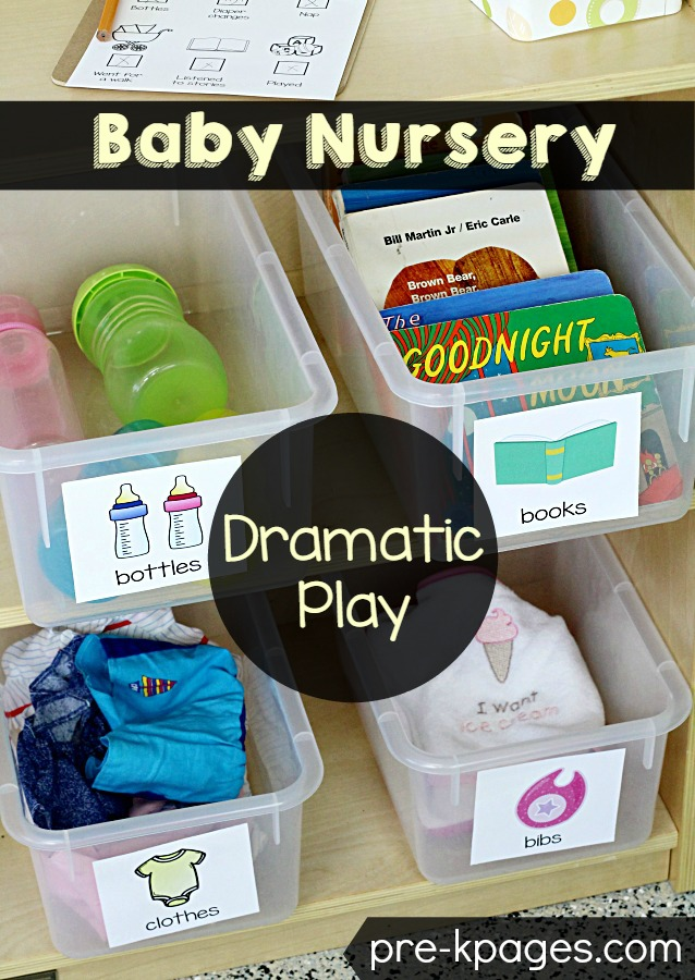 Baby Nursery Pretend Play Printables for Preschool Classroom