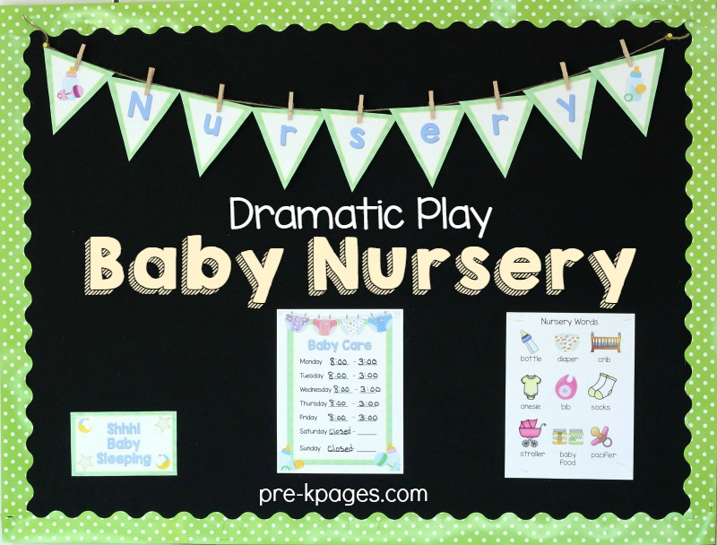 Baby Nursery Pretend Play Props for Preschoolers