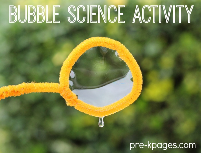 Bubble Science Experiment for Preschoolers