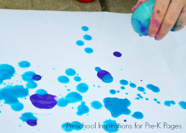 Easter Egg Drip Painting
