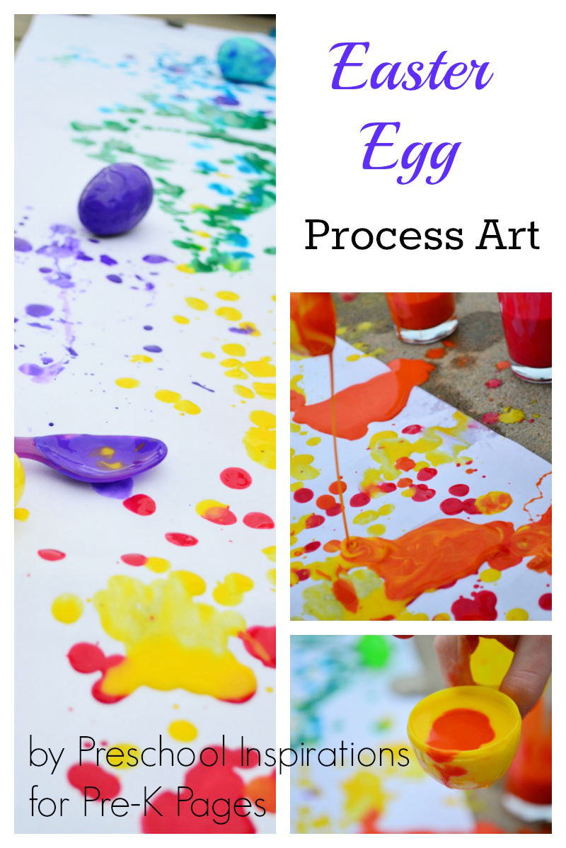 Easter Egg Process Art for preschool