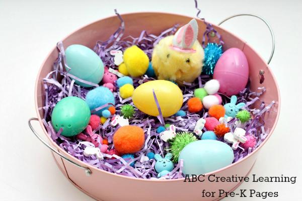 Easter Sensory Bin spring