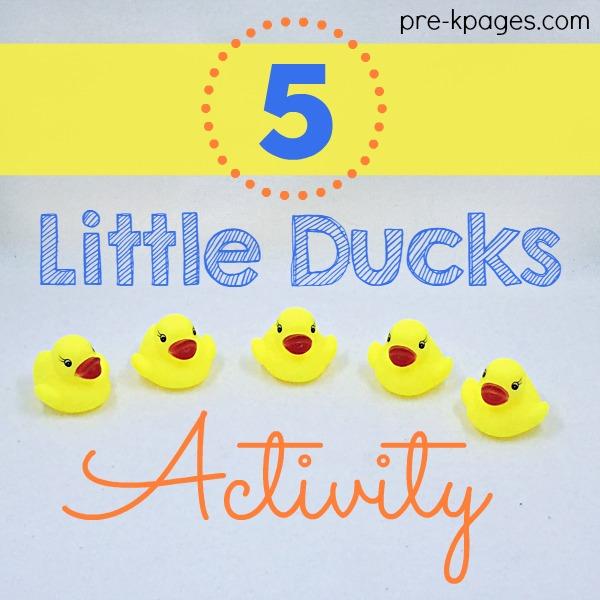 Five Little Ducks Song for Preschool