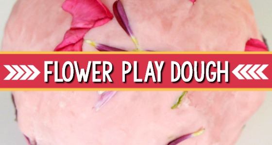 Flower Play Dough for Spring