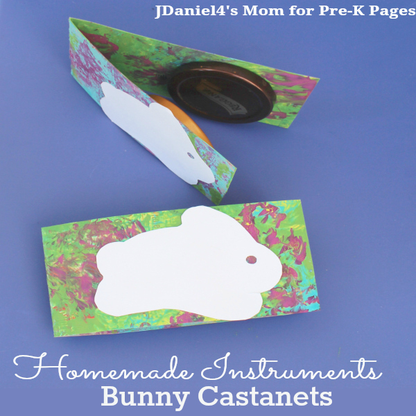 homemade easter castanets for preschool