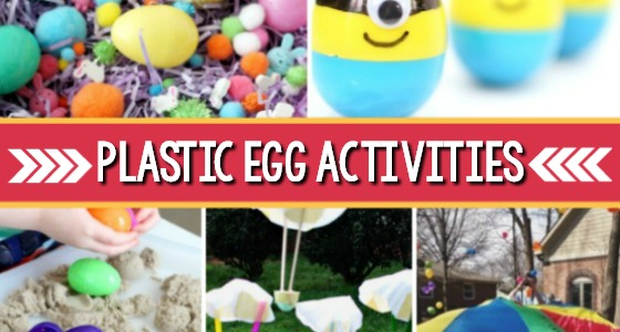 Preschool Easter Activities using Plastic Eggs