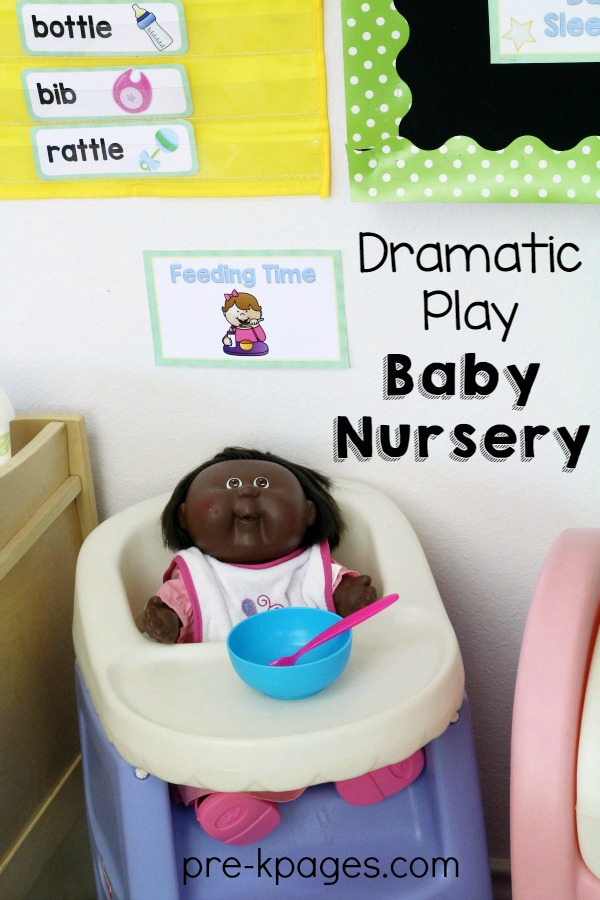 Printable Baby Nursery Props for Dramatic Play Center