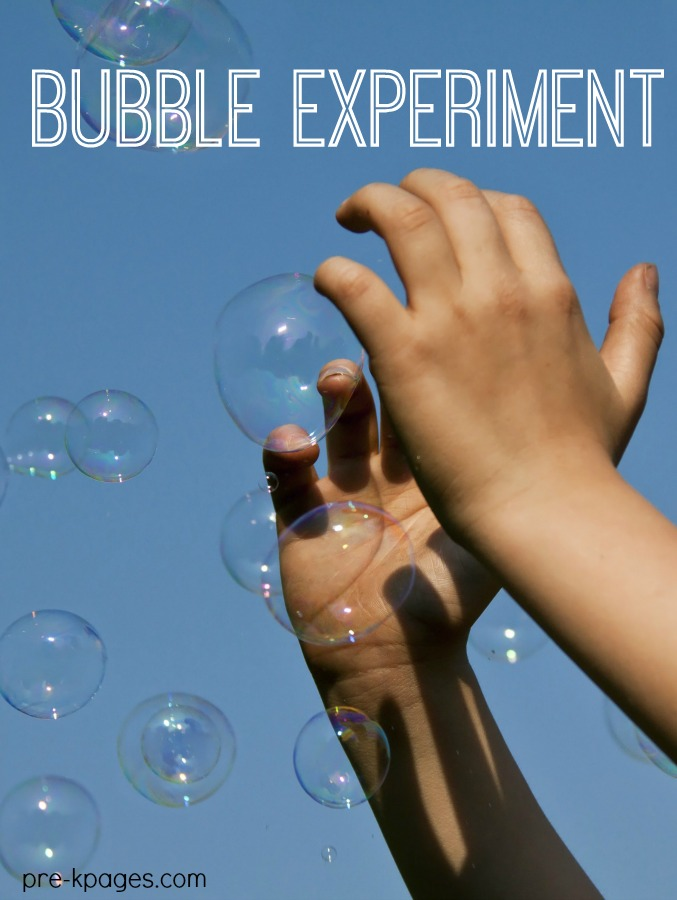 Science for Kids Bubble Experimen