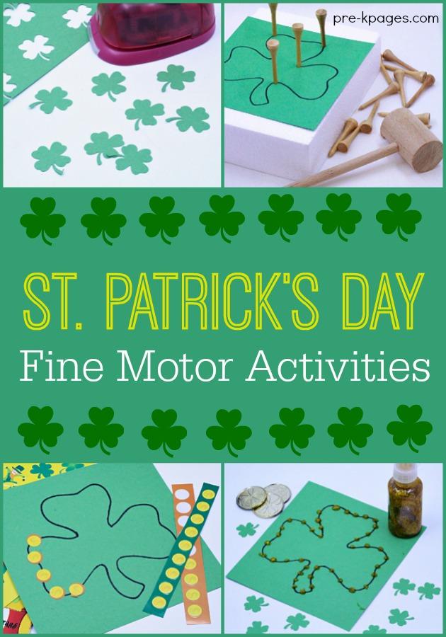 Shamrock Fine Motor Activities