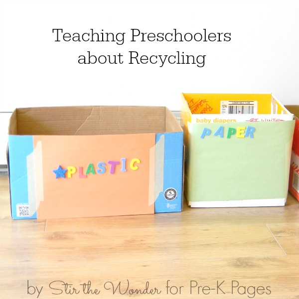 preschool recycling center for earth day