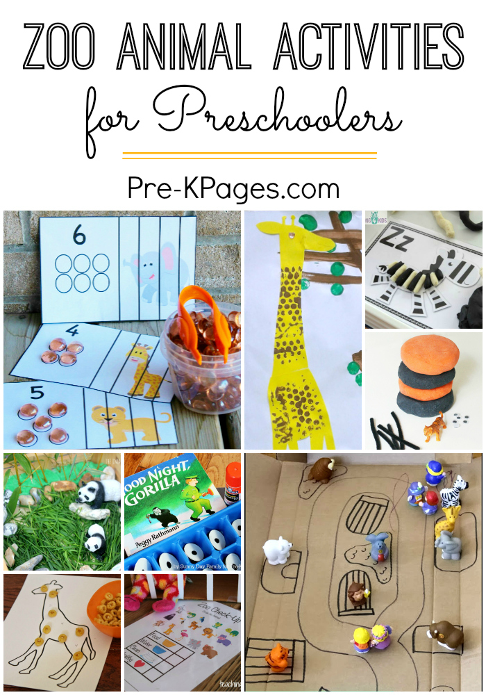 Zoo Activities For Preschoolers Pre K Pages