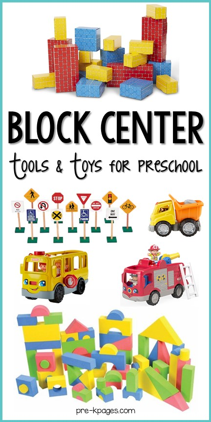 Block Center Tools and Toys for Preschool
