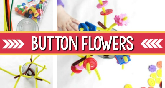Button Flowers Fine Motor Activity