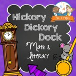 Hickory Dickory Dock Printable Lessons for Preschoolers