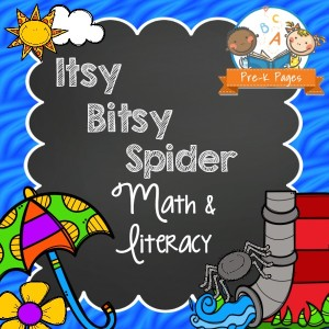 Itsy Bitsy Spider Literacy and Math