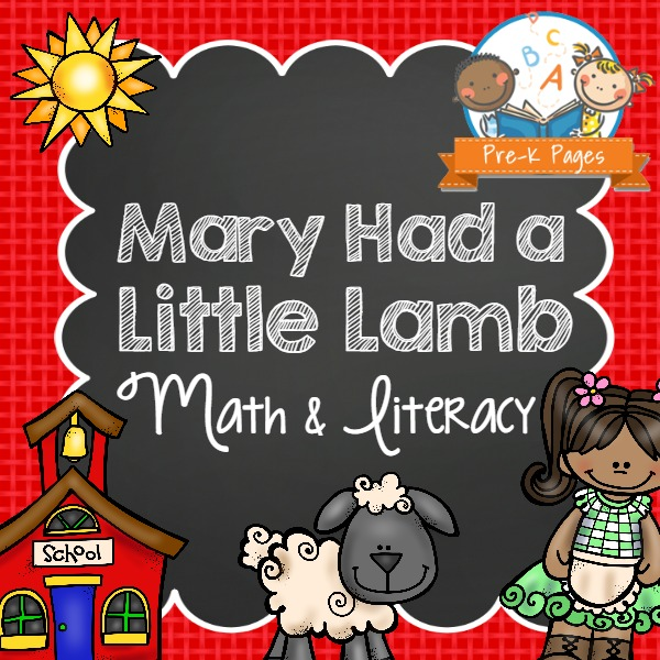 Mary Had a Little Lamb Nursery Rhyme Lessons for Preschoolers
