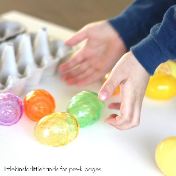 sort eggs by pattern