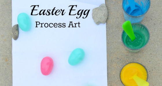 Easter Egg Process Art