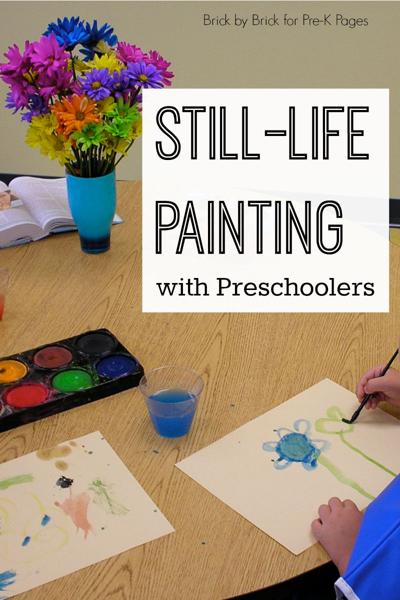 still life painting with preschool