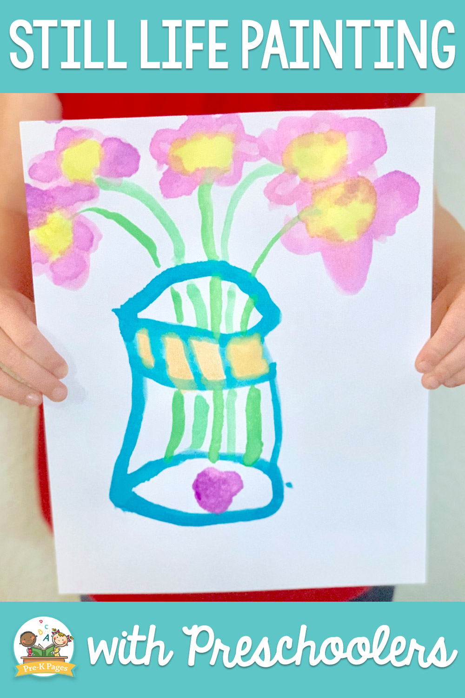 still life painting with preschool