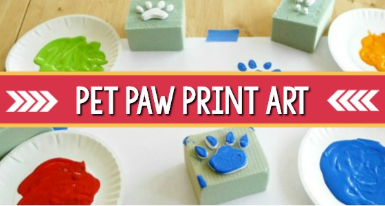Pet Paw Print Art Activity for Preschool