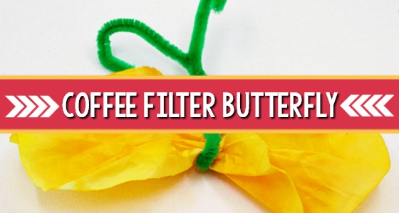 Coffee Filter Butterfly Craft for Preschool