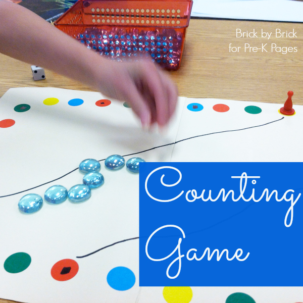 DIY Counting Game for preschool