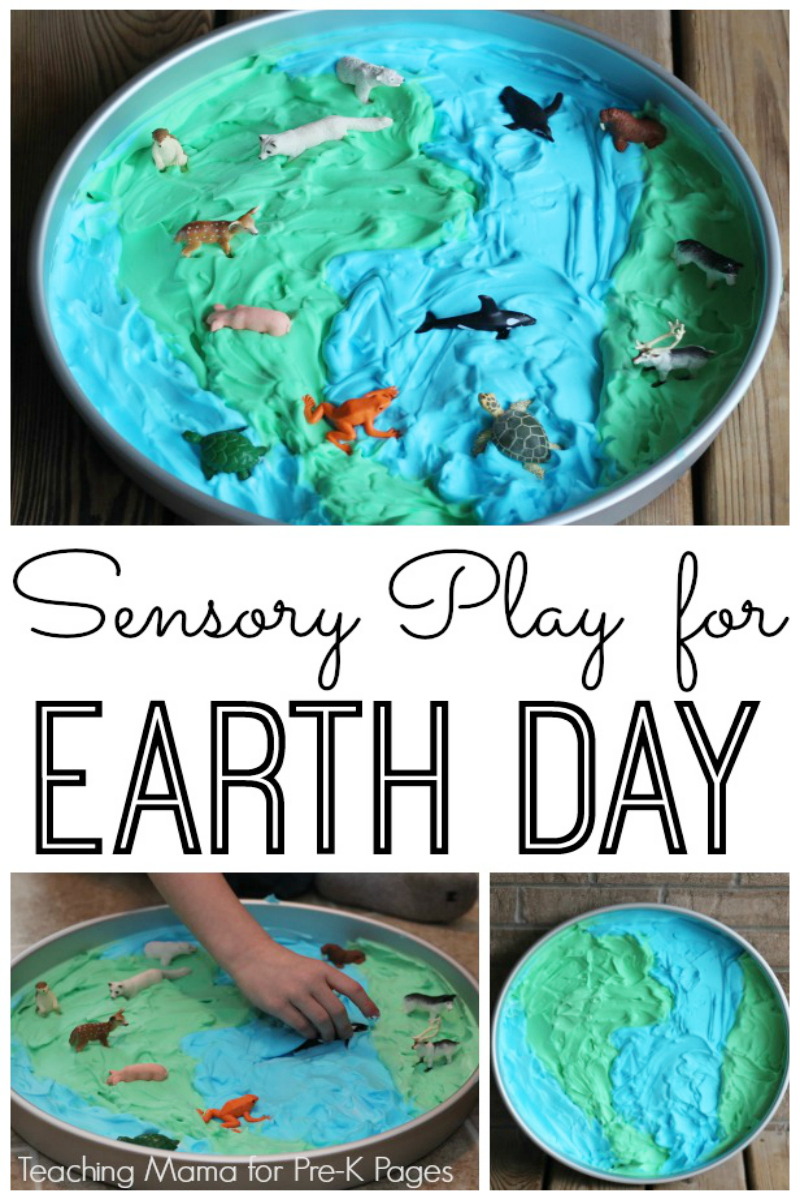 Earth Day sensory play for preschool