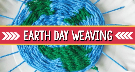 Earth Day Paper Plate Weaving Craft