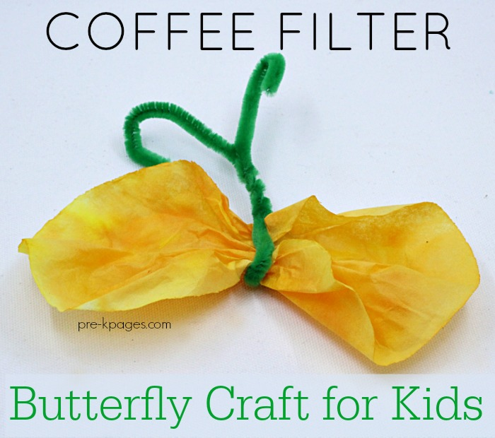 Coffee Filter Butterfly Craft For Preschool Pre K Pages