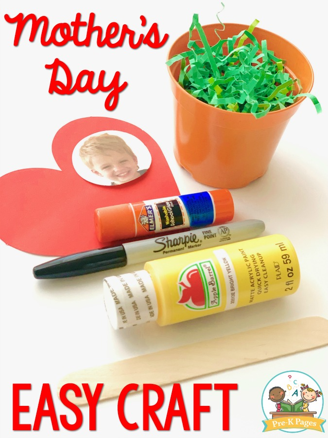 Easy Craft for Mothers Day Kids can Make