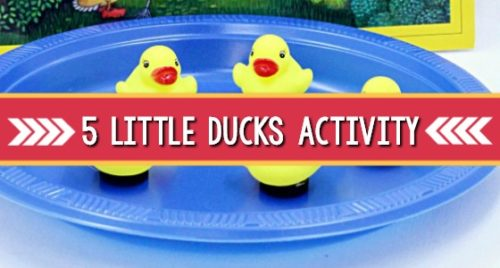 Five Little Ducks Magnet Activity